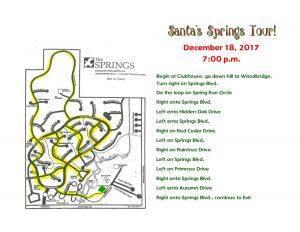 Santa's Tour Schedule
